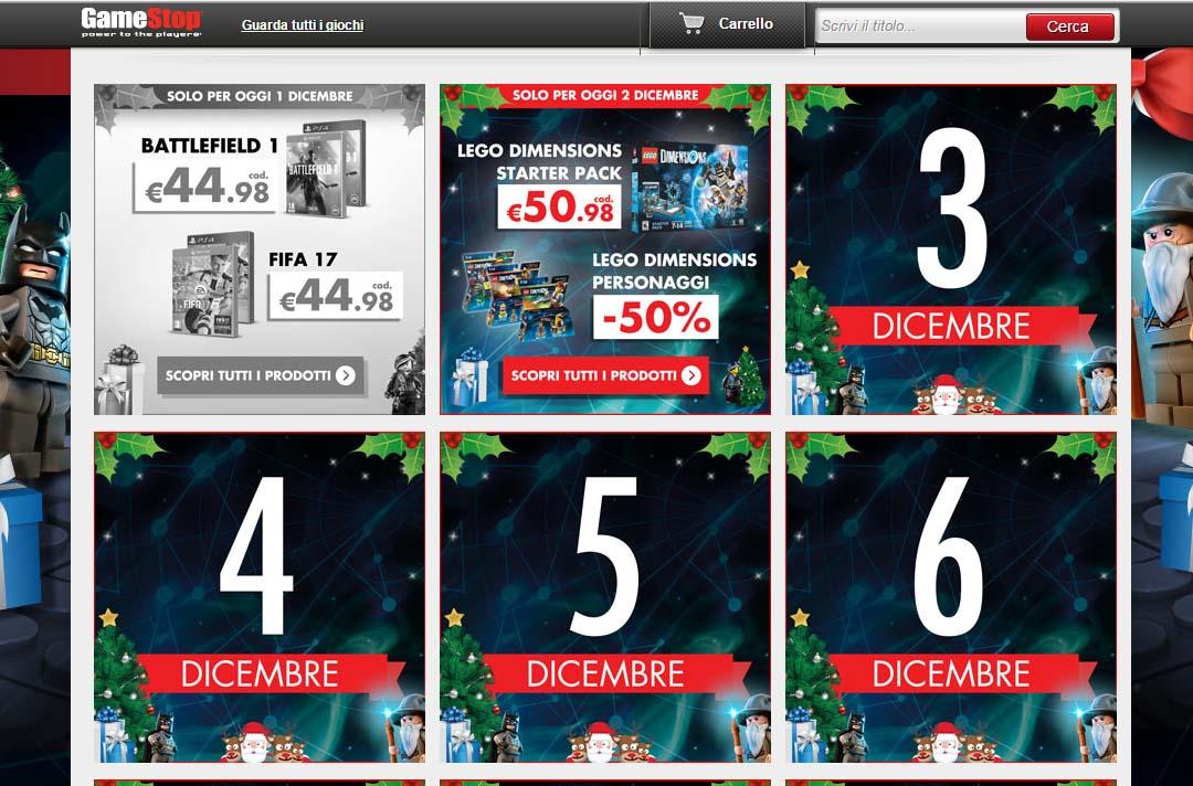 Calendario Dellavvento Gamestop.Una Offerta Bomba Al Giorno Da Gamestop Fino A Natale