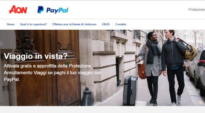 polizza annullamento viaggi paypal